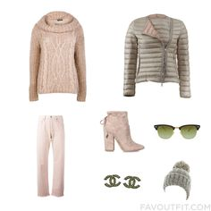 Clothing Inspirations With Boohoo Sweater Puffy Jacket Citizens Of Humanity Jeans And Suede Boots From January 2017 #outfit #look