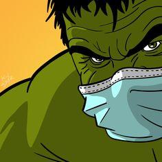 Use face mask and have fun! Marvel Wallpaper, Cartoon Wallpaper, Superhero Pop Art, Cute Drawings Of Love, Pop Art Decor, Hulk Art, Marvel Art, Disney Art, Art Tutorials