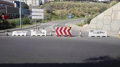 Tamaraceite: El acceso entre las rotondas de Piletas y San Lore...