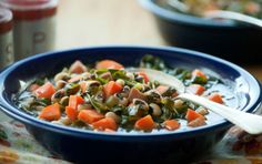 don't knock it..ya might like it...can't get much more southern than this....Black Eyed Pea and Collard Greens Soup