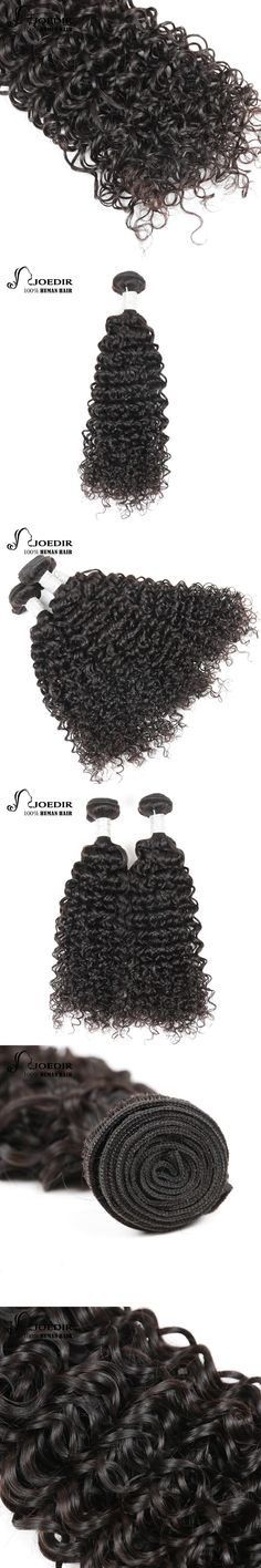 Joedir Pre-Colored Remy 1 Piece Mongolian Kinky Curly Hair Human Hair Bundles Natural Color Can Buy 3/ 4 Bundles Free Shipping