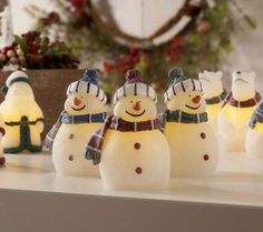 Product image of S/3 Candle Impressions Mini Holiday Flameless Candles & Timer