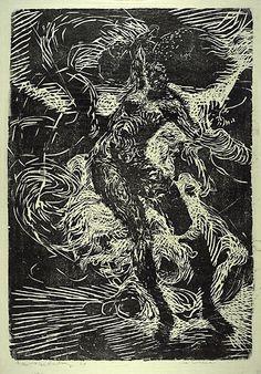 (1964) (plate) / 1964 (trykk). Tresnitt på papir. ©Widerberg, Frans/BONO Plate, Abstract, Drawings, Illustration, Artwork, Inspiration, Collection, Work Of Art, Biblical Inspiration