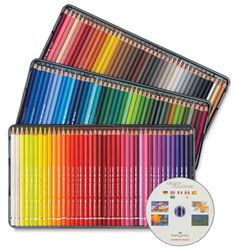 Set of 120, with CD-ROM (watercolor) (layering colored pencil on top of watercolor works very well :)
