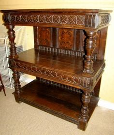 Elizabethan Early Oak Court Cupboard (English)