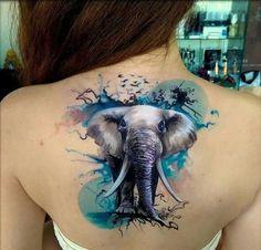 elephant tattoo designs (89)