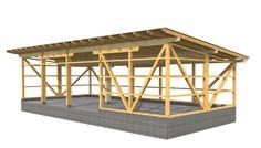 Werkplanung einer Maschinenhalle für CNC-Abbund mit Hundegger K2