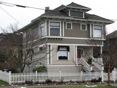 two toned taupe grey siding home - Google Search
