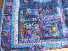 quilt voor Yara, detail diepzee