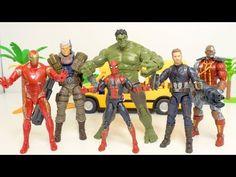 Ironman hulk spiderman captain america save school bus