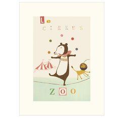 Maileg Circus Bear Poster