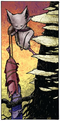 Mouse Guard: Fall 1152, #4 (2006). Written & illustrated by David Petersen.