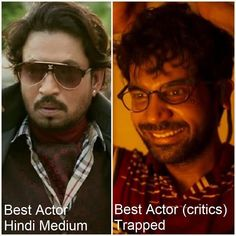 "1 Likes, 1 Comments - muvyz.com (@muvyz) on Instagram: ""Congratulations! #BestActor (popular) #IrrfanKhan #HindiMedium #BestActor (Critics) #RajkummarRao…"""