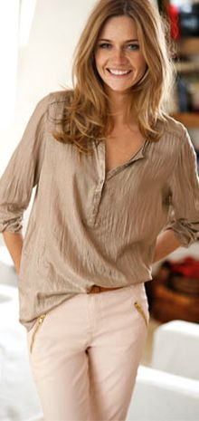 Blouse Soft camel