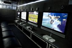 Inside the gaming truck