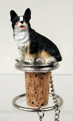 Cardigan Welsh Corgi Wine Bottle Stopper - DTB51B by Conversation Concepts. $9.38. We have about 300 Dog Wine Bottle stoppers, so you should find the one you want. Pewter Base, with Chain and Ring to keep it with the Bottle. Cardigan Welsh Corgi Dog Wine Bottle Stopper is Made of Poly Resin and Hand Painted. Wine Safe Cork. Cardigan Welsh Corgi Dog Wine Bottle Stopper is Made of Poly Resin and Hand Painted. Save 45%!