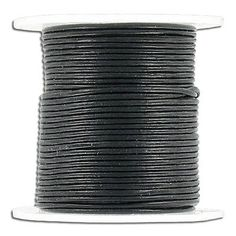 (SKU# Sold per pack of 1 spool(s). Leather Cord, Ebay, Black, Black People