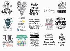 Discover recipes, home ideas, style inspiration and other ideas to try. Flamingo Art, Teaching Spanish, Journal Cards, Word Art, Wall Sticker, Hand Lettering, Typography, Clip Art, Stickers