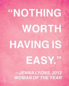 Truth, Jenna. From Glamour's 2012 Women of the Year awards