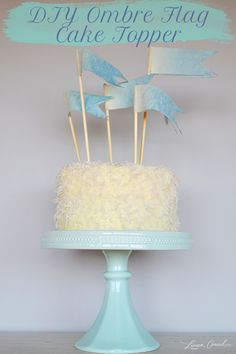 DIY Ombre Flag Cake Topper