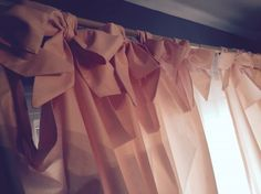 Bow curtain ties for baby girl