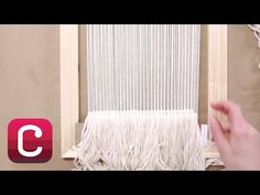 Weaving for Beginners Part 3: Start Weaving and Add Fringe with Annabel Wrigley   Creativebug - YouTube