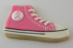 A pink Converse cookie