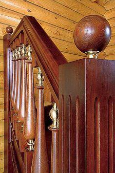 wooden railing details