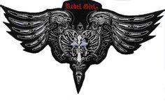 Rebel Girl Wings w/Cross Embroidered Patch www.RebelGirl.com