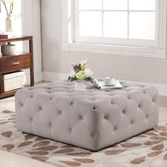 @Overstock.com - Baxton Studio Teague Beige Linen Modern Tufted Ottoman - Practical as both an ottoman and a coffee table, this two-for-one living room accent piece was love at first sight for us. Our Teague Tufted Ottoman is made with eucalyptus wood, firm foam padding, and beige linen upholstery. http://www.overstock.com/Home-Garden/Baxton-Studio-Teague-Beige-Linen-Modern-Tufted-Ottoman/8459300/product.html?CID=214117 $334.99