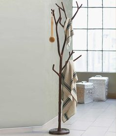 Ideas Modern Coat Rack Stand Design For You Inspiration Decoration Furniture Interior Fabulous Bronze Branch Coat Tree Idea With Unique Shap. Tree Coat Rack, Coat Tree, Standing Coat Rack, Coat Stands, Banquette, Coat Hanger, Home Accents, Tree Branches, Ladder Decor