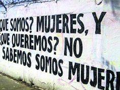 """""""¿Qué somos Mujeres, y ¿qué queremos? No sabemos, somos mujeres"""" Acción poética (México)"""