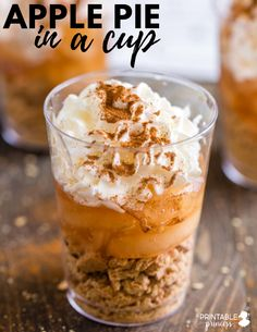 Apple pie in a cup! Perfect to go along with your apple themed unit in preschool, kindergarten, and 1st grade! A fun fall activity!