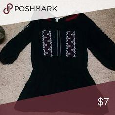 4 for $10 Forever 21 tunic 3/4 sleeves black m Cute forever 21 black tunic m Forever 21 Dresses Mini
