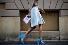 As seen on the streets of #MFW this pair of pumps from our Cruise 2015 collection shot by Adam Katz Sinding for @wmag