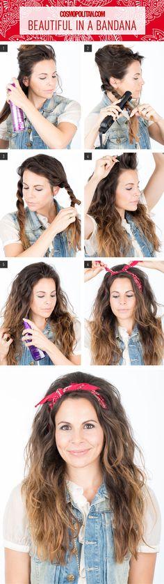 Hair How-To: Look Beautiful in a Bandana