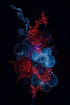 55 ideas for music tattoo skull behance Blue Roses Wallpaper, Black Phone Wallpaper, Flower Phone Wallpaper, Dark Wallpaper, Colorful Wallpaper, Aesthetic Iphone Wallpaper, Galaxy Wallpaper, Unique Wallpaper, Wallpaper Pictures