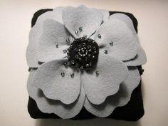 Ring Bearer Pillow Gray Black by ArtisanFeltStudio on Etsy