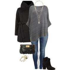 Plus Size - Poncho & Booties
