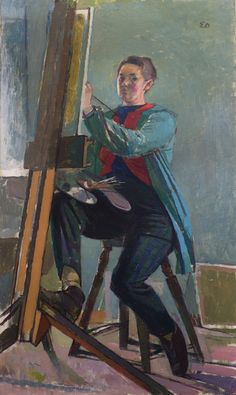 'Self-portrait' by Evelyn Dunbar, 1958