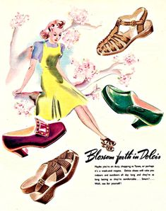 My Puzzles - Vintage Stuff - 1940s Shoes Fashions