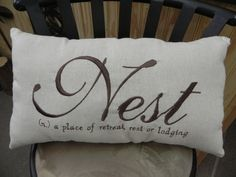 Nest Pillow by pillowkarma on Etsy, $24.95