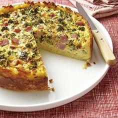 Broccoli, Ham & Cheese Quiche - EatingWell.com