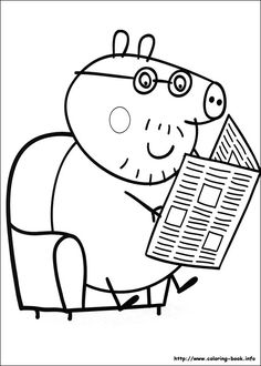 13 Peppa Pig printable coloring pages for kids. Find on coloring-book thousands of coloring pages. Peppa Pig Coloring Pages, Family Coloring Pages, Cool Coloring Pages, Coloring Pages For Kids, Coloring Sheets, Coloring Books, Papa Pig, Peppa Pig Family, Pig Birthday