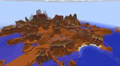 Mcpe Seed With Hidden Canyon In Mesa Biome Xbunk