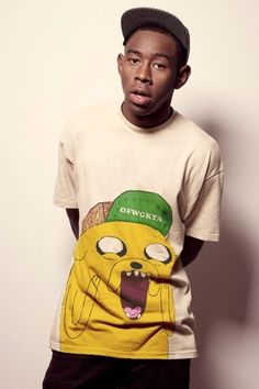 t-shirt ofwgkta tyler the creator odd future adventure time t shirt cartoon white t-shirt