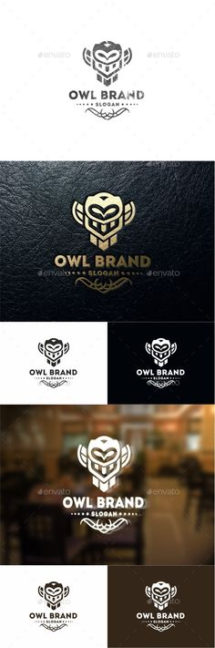 Buy Owl Brand by on GraphicRiver. OWL BRAND Professional logo template for all creative business company. The set includes: vector source files (AI , E. Logo Design Template, Logo Templates, Winery Logo, Stamped Business Cards, Owl Logo, Bird Logos, Jewelry Logo, Abstract Logo, Business Company