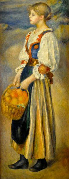 Pierre Auguste Renior - Girl with a Basket of Oranges, 1889 at National Gallery of Art Washington DC   Flickr - Photo Sharing!