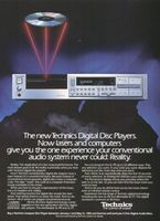 Technics SL-P8 Digital Disc Player 1984 Ad Picture
