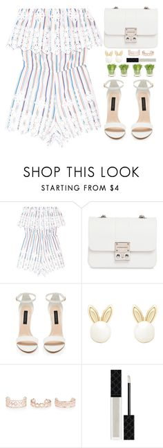 """""""Street style"""" by simona-altobelli ❤ liked on Polyvore featuring Miguelina, Design Inverso, Lipsy, New Look, Gucci and NDI"""